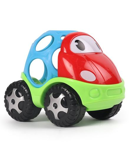 Dr. Toy Baby Soft Ball Car Shaped Rattle - Blue Red