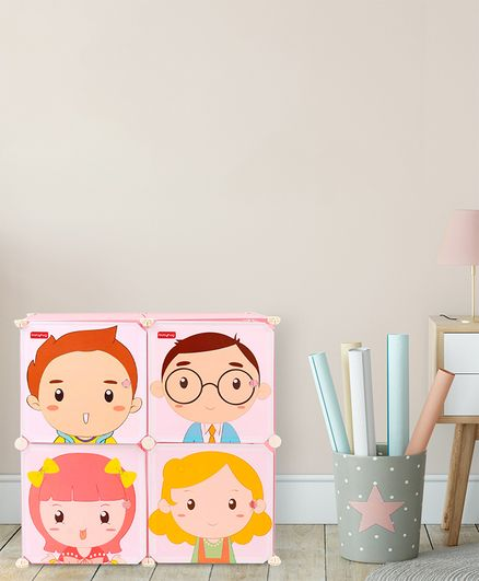 Babyhug 4 Layered Detachable Storage Unit Cartoon Print - Pink