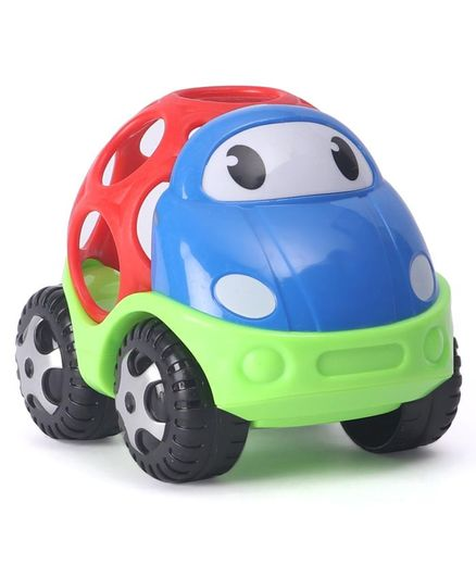 Dr. Toy Baby Car Shaped Rattle - Blue Red