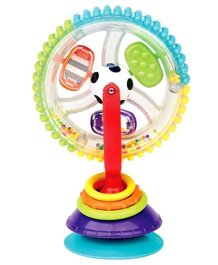 Sassy Wonder Wheel Toy With Suction Base - Multicolour