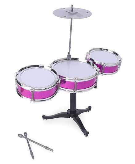 Playmate Flash Music Jazz Drum Set - Pink (Colors And Contents May Vary)