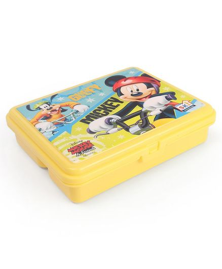 Disney Mickey & Minnie Mouse Lunch Box With 3 Compartments - Yellow