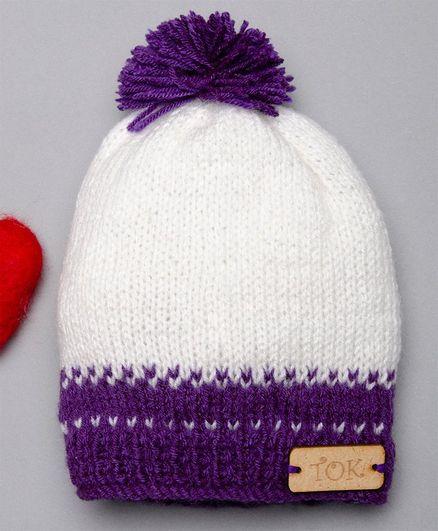 The Original Knit Handmade Crochet Dual Shaded Cap - White