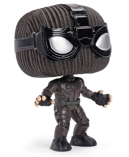 FunKo Marvel Spider-Man In Stealth Suit Bobble Head Pop Action Figure Black - Height 9.5 cm