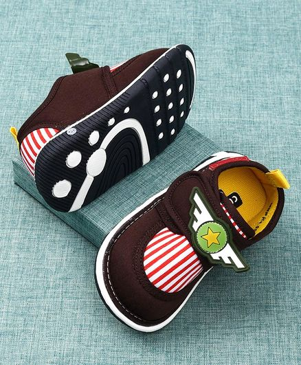 Cute Walk by Babyhug Canvas Shoes - Brown