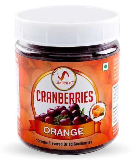 Umanac Cranberries Orange Flavored -  250 gm