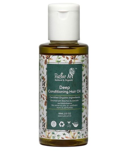 Rustic Art Organic Deep Conditioning Hair Oil - 100 ml