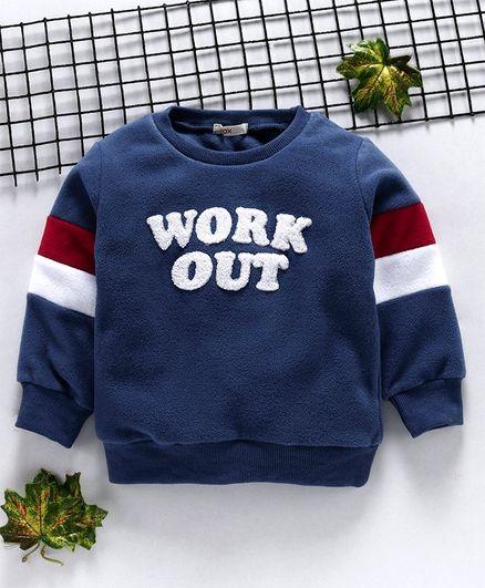 Fox Baby Winter Wear T-Shirt Work Out Patch - Blue