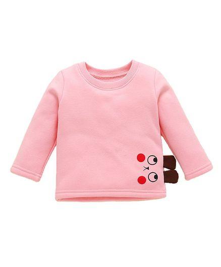 Pre Order - Awabox Eyes Printed Full Sleeves Tee - Light Pink