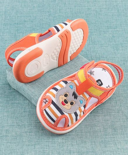 Cute Walk by Babyhug Sandal Animal Patch - Orange