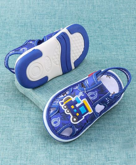 Cute Walk by Babyhug Sandal Train Patch - Blue