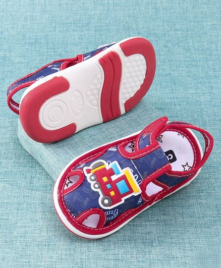 Cute Walk by Babyhug Sandal Train Patch - Red