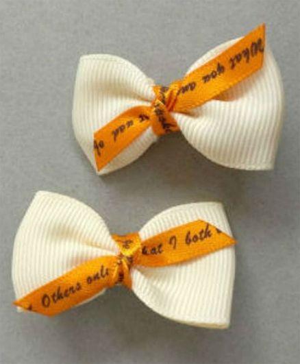 Tiny Closet Knot Bow Hair Clip - Cream
