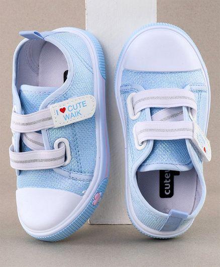 Cute Walk by Babyhug Casual Shoes Cutewalk Patch - Blue