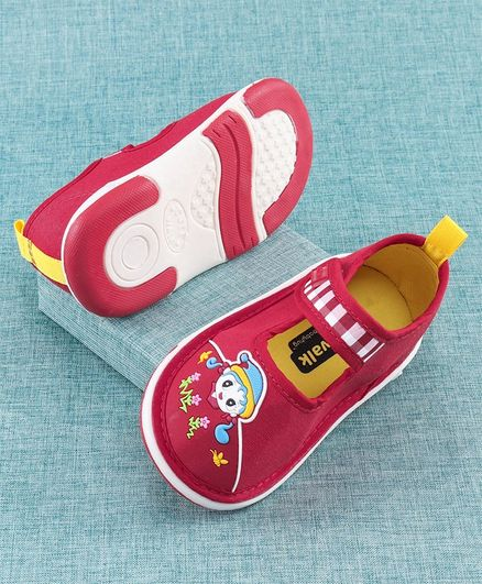 Cute Walk by Babyhug Casual Shoes Kid Patch - Red