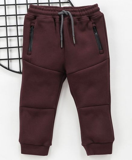Memory Life Full Length Solid Lounge Pant - Maroon