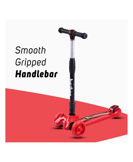 Baybee Flash 3 Wheel Folding  Scooter with Adjustable Height - Red