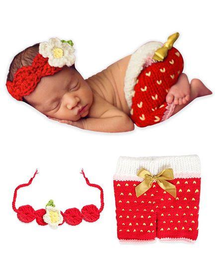 Bembika Newborn Photography Posing Pillow Set of 2 - Red