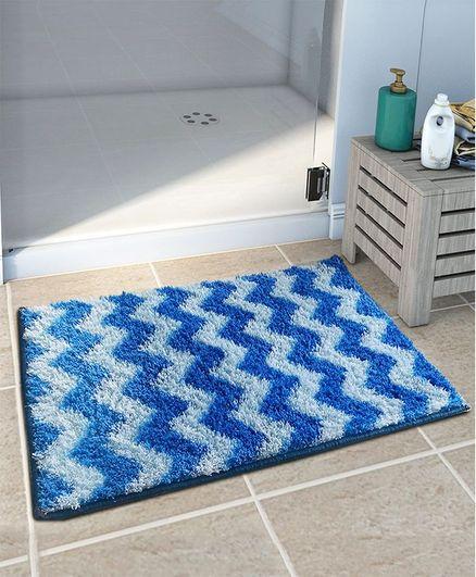 Athom Trendz Easy Home Designer Soft Anti Slip Bath Mat - Blue