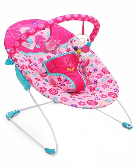 Kids II Bright Starts Vibrating Bouncer - Pink