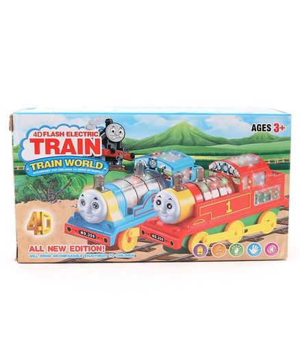 Dr.Toy Battery Operated 4D Flash Electric Train Engine Toy With Lights & Sound - Green