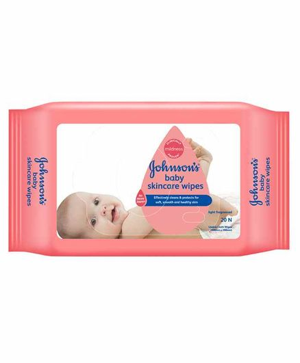 Johnson Baby Skincare Baby Wipes, 20 Pieces