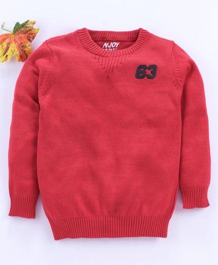 Vitamins Full Sleeves Sweater - Red