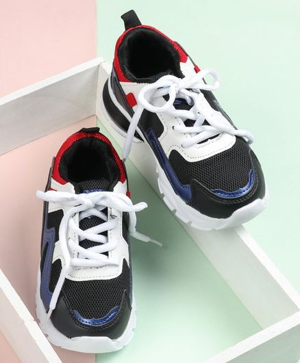 Cute Walk by Babyhug Lace Up Sports Shoes - Navy Blue
