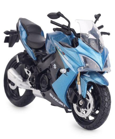 Motormax Die Cast Toy Bike Suzuki Gsx s1000F ABS - Blue Black