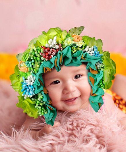 Babymoon Bonnet Cap New Born Baby Photography Shoot Props Costume - Green