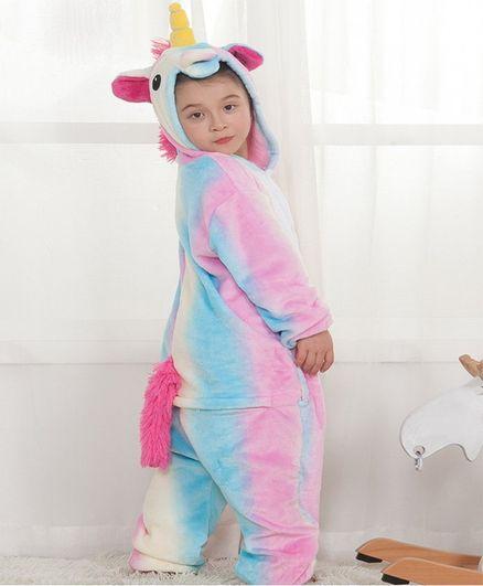 Pre Order - Awabox Full Sleeves Unicorn Jumpsuit Costume - Pink