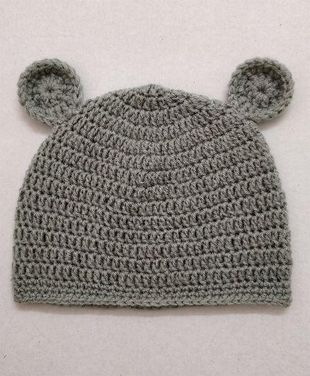 Knit Masters Ear Applique Cap - Grey