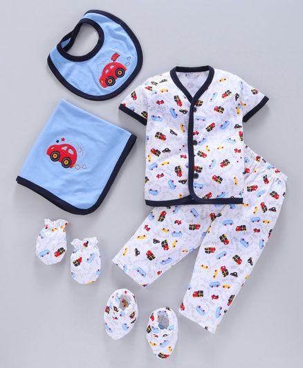 Child World Clothing Gift Set Pack of 6 - White Blue