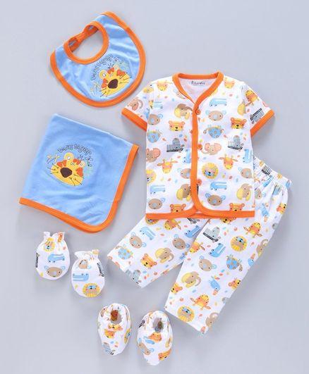 Child World Clothing Gift Set Pack of 6 - White Orange