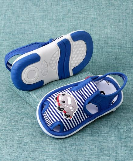 Cute Walk by Babyhug Sandals Car Patch - Blue