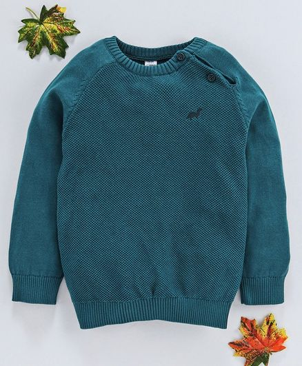 LC Waikiki Solid Full Sleeves Sweater - Green