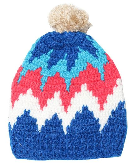 MayRa Knits Crochet Woolen Cap  - Multicolor