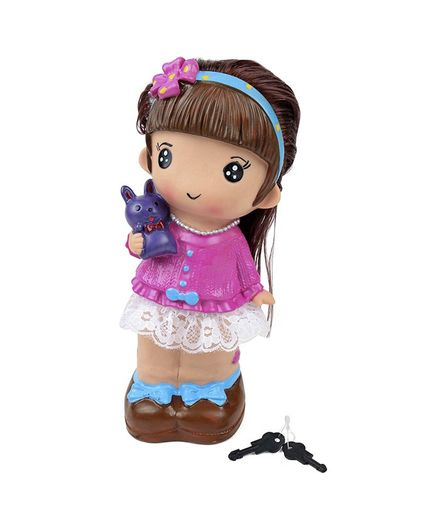 Speedage Doll Shaped Money Bank - Blue Purple