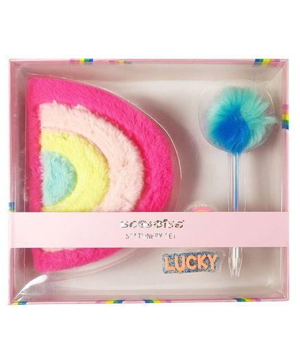 Scoobies Rainbow Plush Diary Gift Set - Multicolour