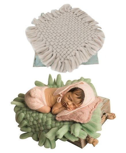 Babymoon Merino Wool Blanket New Born Photography Photoshoot Props Costume - Grey