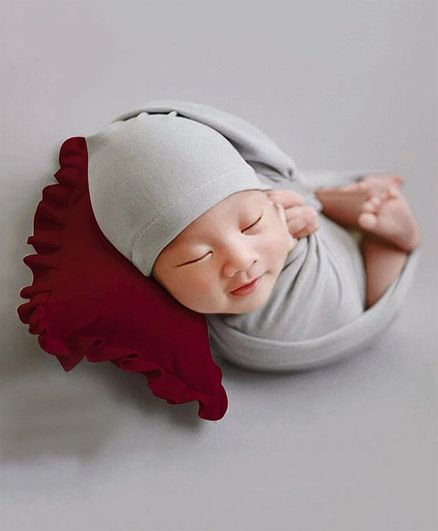 Babymoon Baby Pillow New Born Photography Photoshoot Props Costume - Red