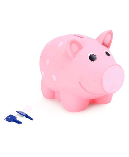 Ratnas Piggy Bank With Keys - Pink