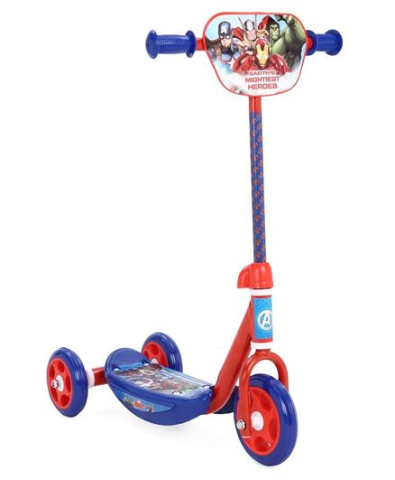 Avengers Kids' Three Wheel Scooter With Adjustable Handle Height - Blue
