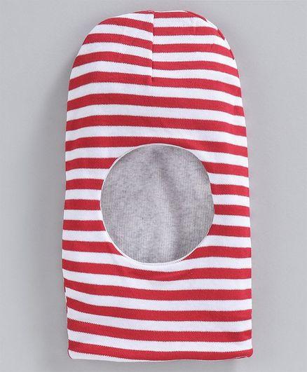 Ben Benny Striped Monkey Cap - Red White