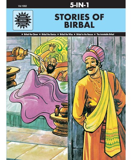 Amar Chitra Katha 5 in 1 Stories Of Birbal By Anant Pai - English