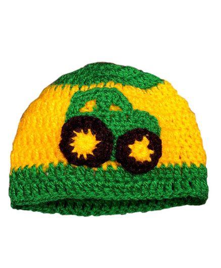 Knits & Knots Car Motif Cap - Yellow