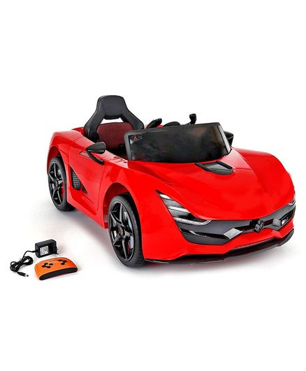 Kids Rechargeable Battery Operated Ride-On Car with Remote Control - Red