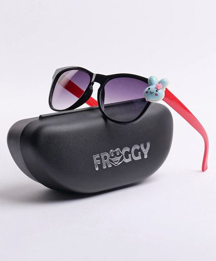 FROGGY Bunny Detailing Sunglasses - Black