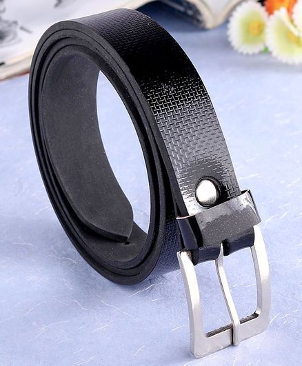 London Fashion Solid Colour Belt - Black