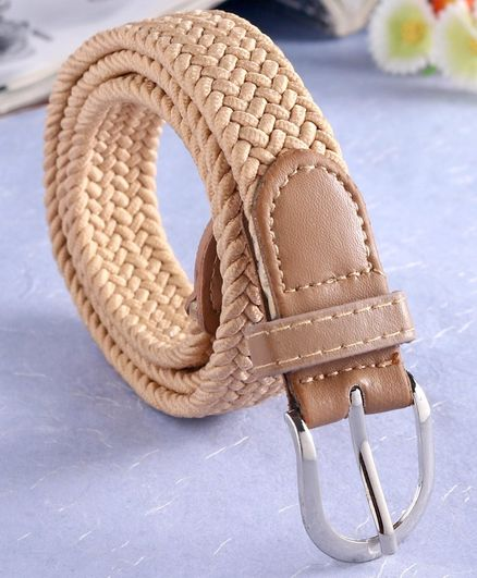 London Fashion Braid Pattern Belt - Cream